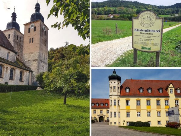 Das Benediktinerkloster Plankstetten mit riesigem Klostergarten