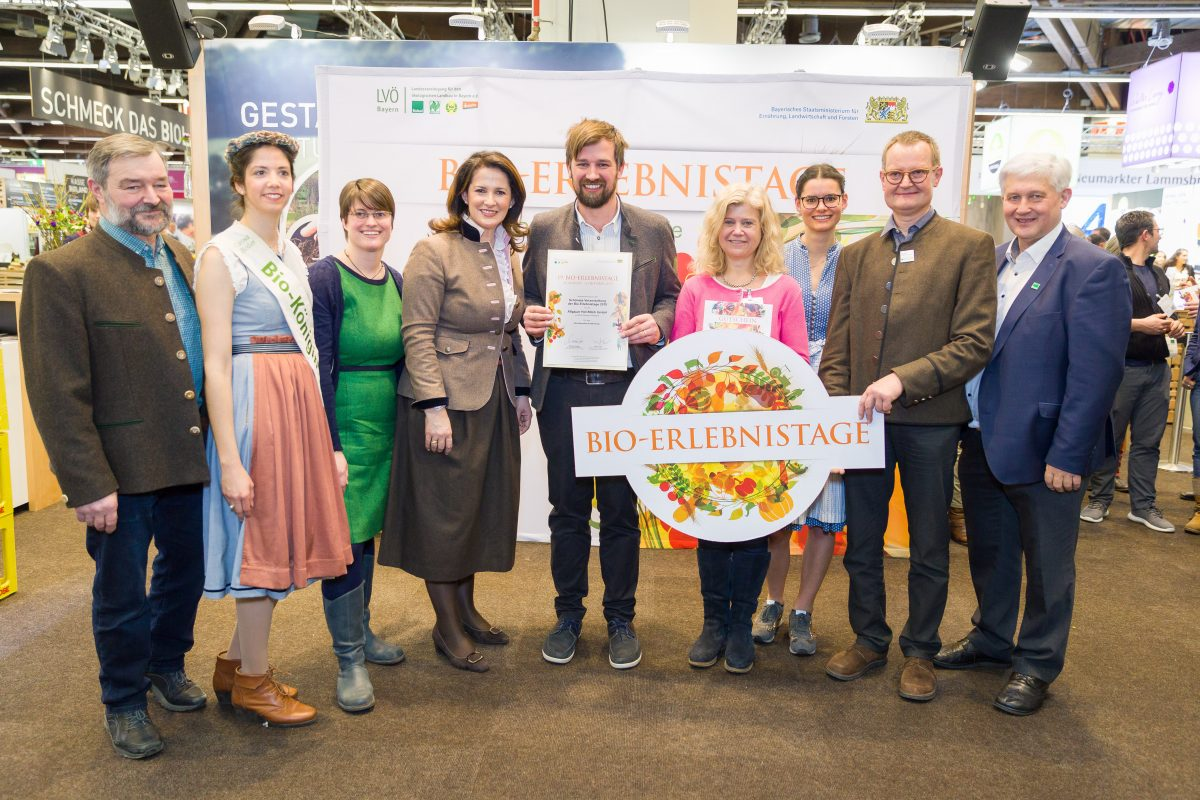 Gruppenbild Schönste Veranstaltung Allgäuer Hof-Milch Bio-Erlebnistage 2019