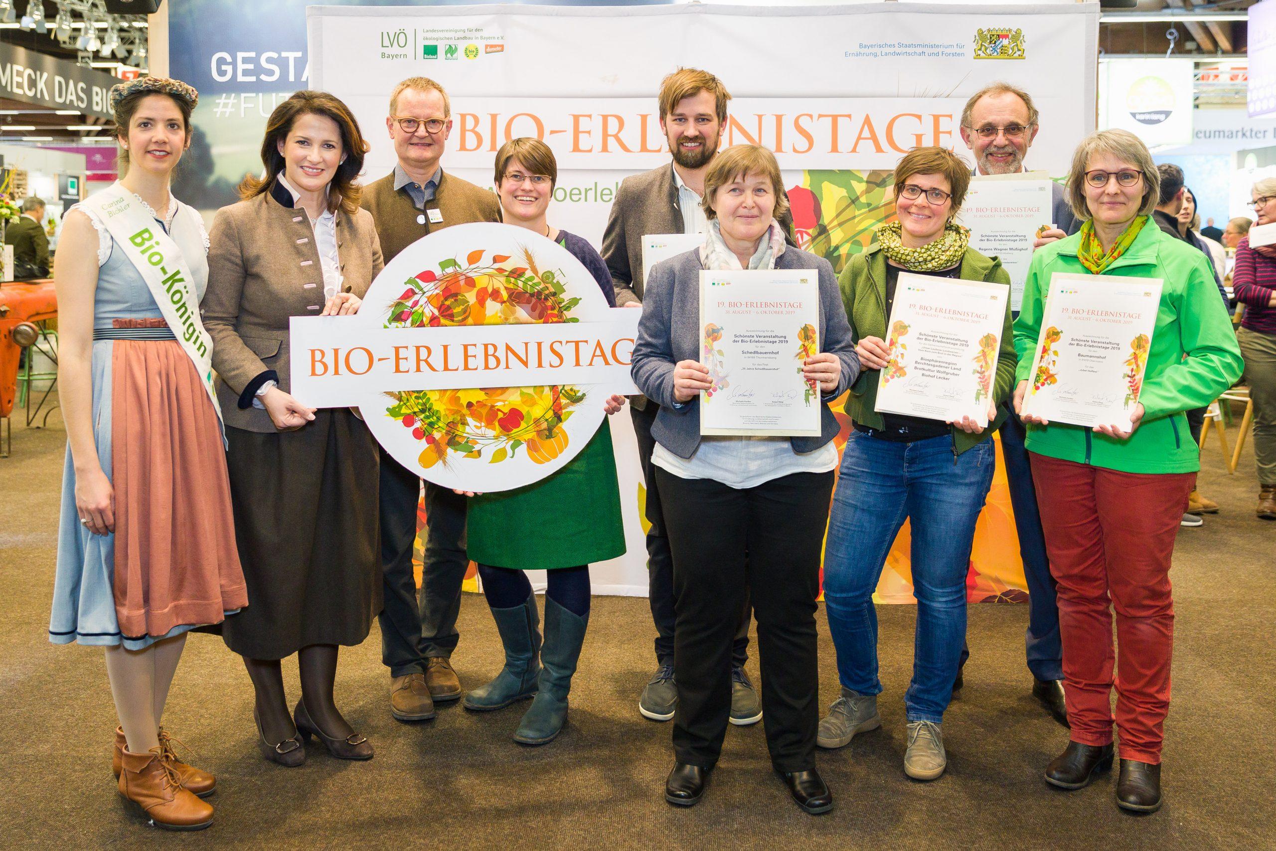Gruppenbild 1. Preis Bio-Kartoffelfest