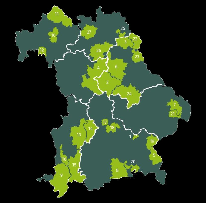 Kartenumriss von Bayern