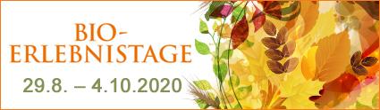 Banner Bio-Erlebnistage 2020