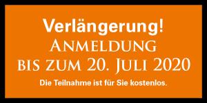 Anmeldeschluss bis zum 20.07.2020. Teilnahme kostenlos.